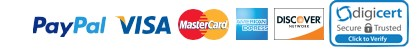 Paypal, Visa, MasterCard, American Express, Discover cards accepted by theBASSguys