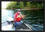 One of Pete's many Smallmouth bass caught on a Tube bait.