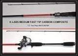 "K-Labs Medium Fast Tip Carbon Composite 7'2"" Two Piece Baitcaster Rod"