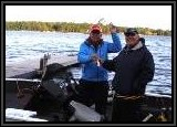 AL and Dennis on AL's 2015 LOWE 16.5 boat. He powers this boat with a really nice 60HP Mercury Four Stroke.