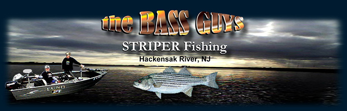 Stripe Bass fishing on the Hackensack River NJ