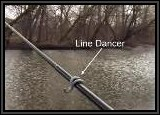 Notice how the Line Dancer is attached to the rod. It comes in serveral sizes and stays firmly in place with the rubberized material around it..