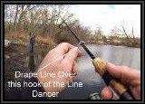 Attaching the line to the Dancer was simple and easy. It did not interfere with the hook set either.